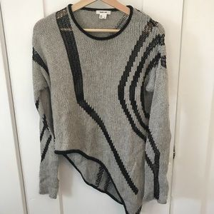 HELMUT LANG knit sweater with mesh detail